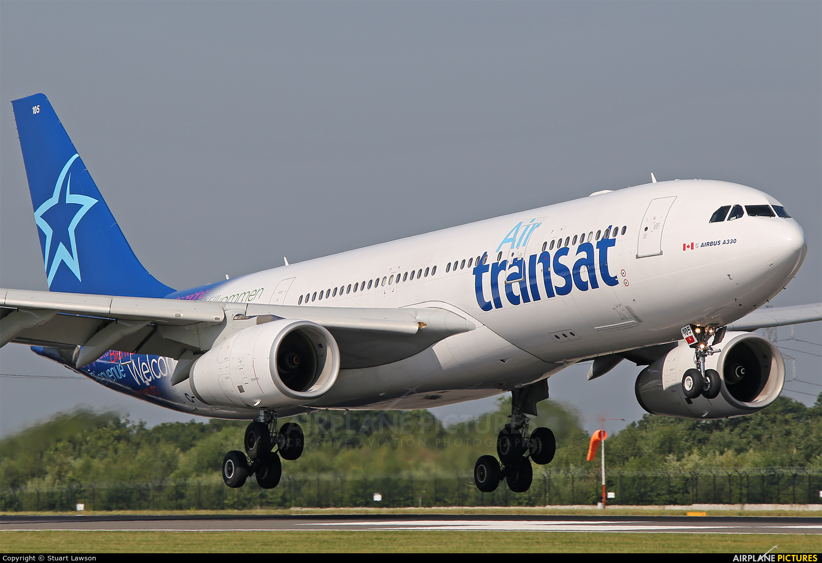 c gtsi air transat airbus a330 200 at manchester photo id 823769 airplane pictures net