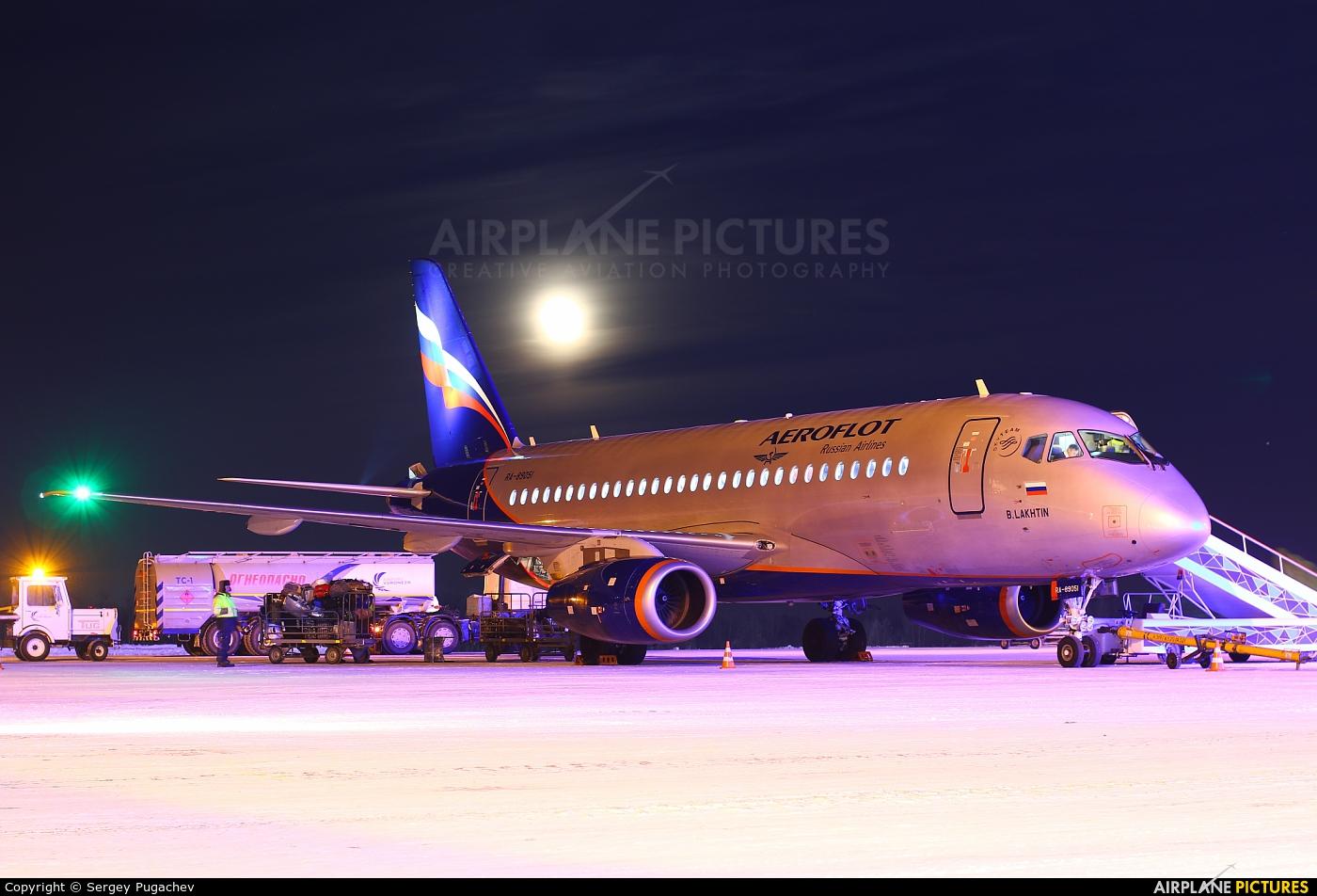 Aeroflot 89051 aircraft at Voronezh-Chertovitskoye
