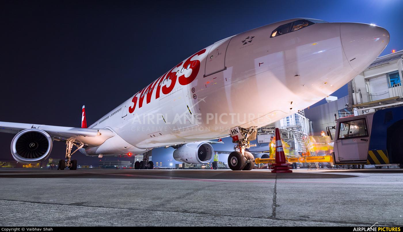 Swiss HB-JHN aircraft at Mumbai - Chhatrapati Shivaji Intl
