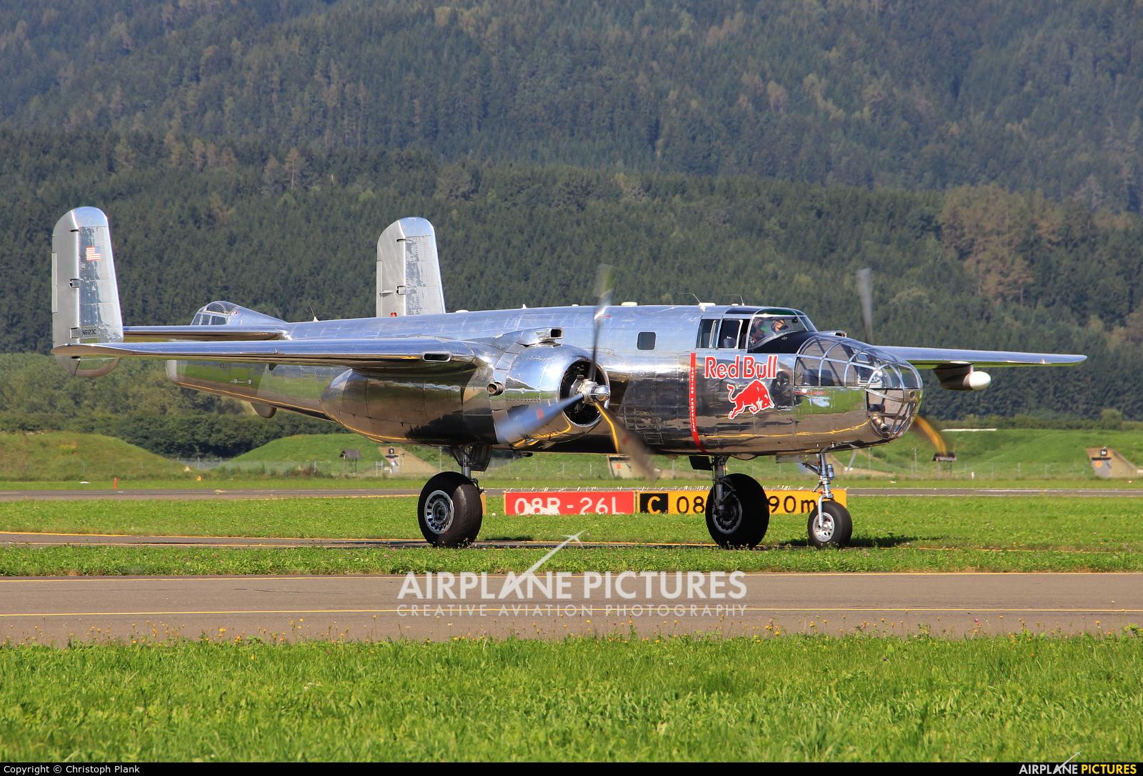 The Flying Bulls N6123C aircraft at Zeltweg