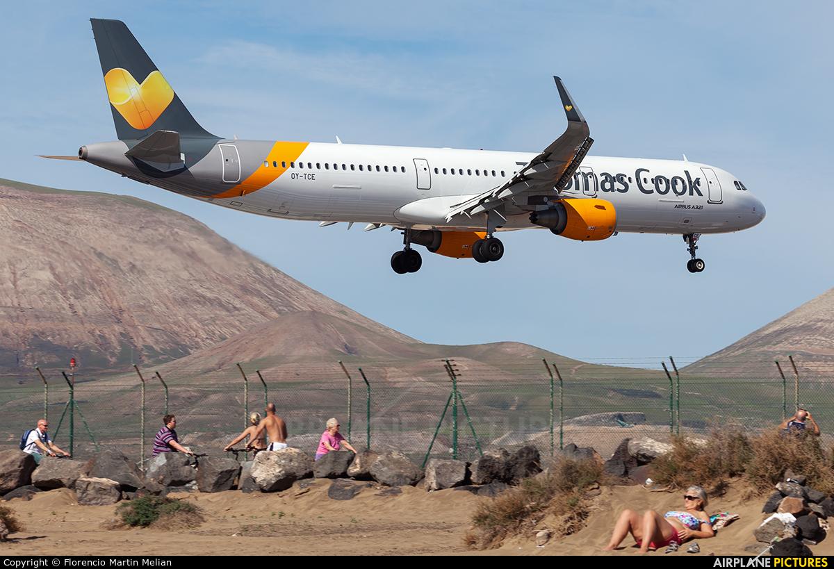 Thomas Cook Scandinavia OY-TCE aircraft at Lanzarote - Arrecife