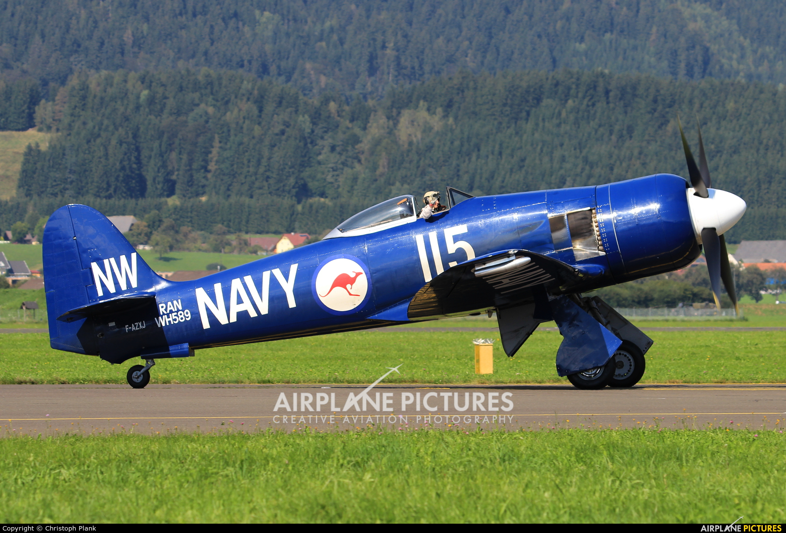 Private F-AZXJ aircraft at Zeltweg
