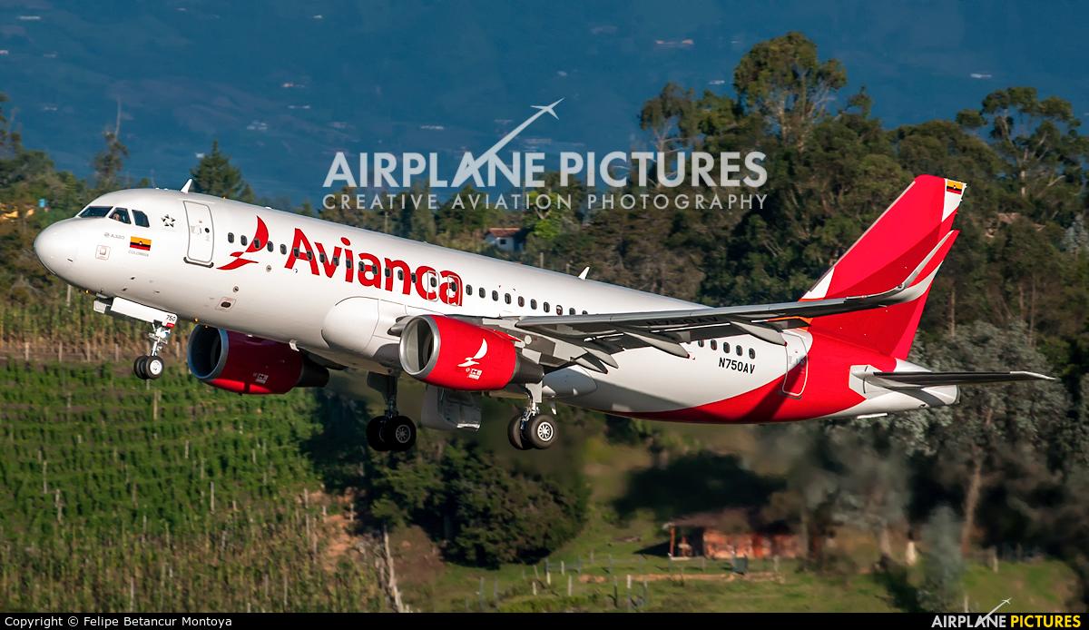 Avianca N750AV aircraft at Medellin - Jose Maria Cordova Intl