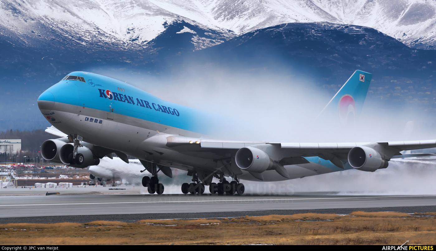 Korean Air Cargo HL7601 aircraft at Anchorage - Ted Stevens Intl / Kulis Air National Guard Base