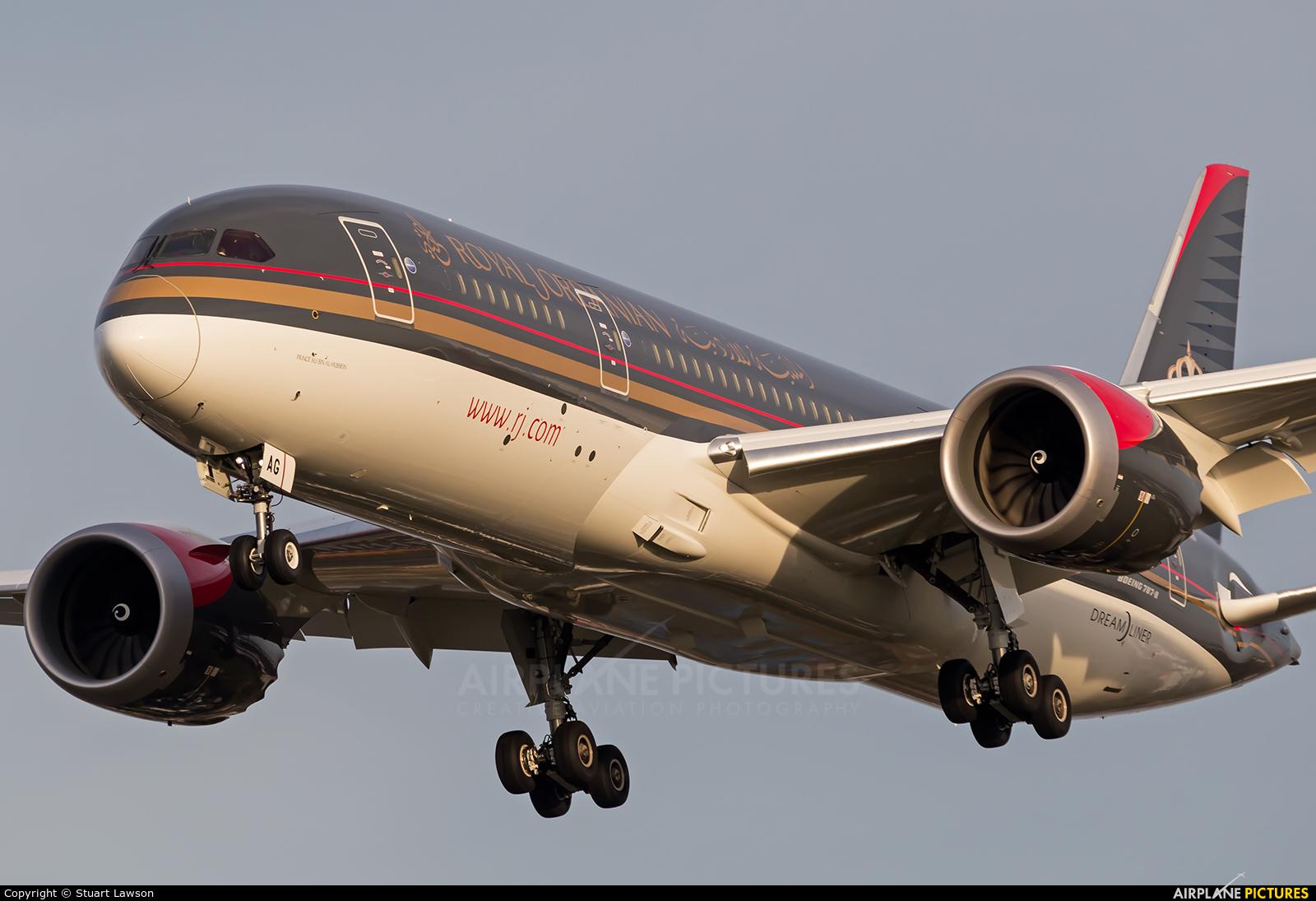 Royal Jordanian JY-BAG aircraft at London - Heathrow