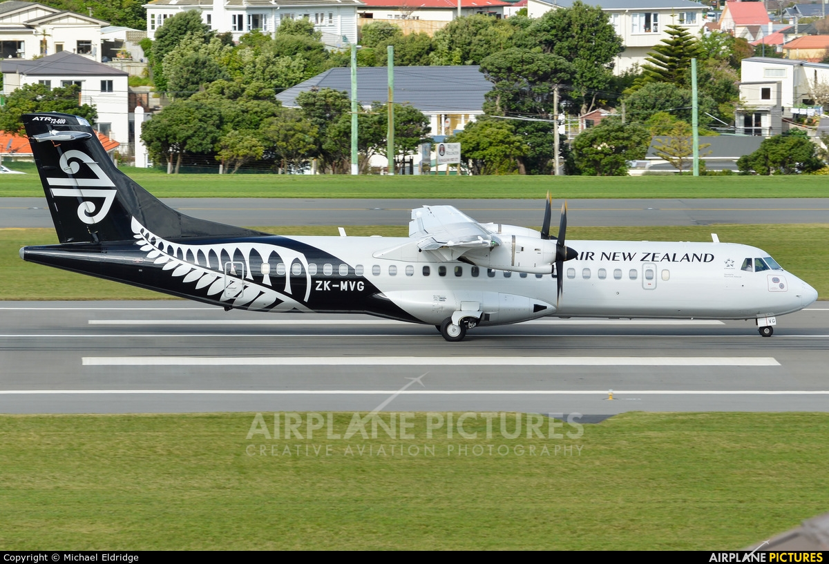 Mount Cook Airlines ZK-MVG aircraft at Wellington Intl