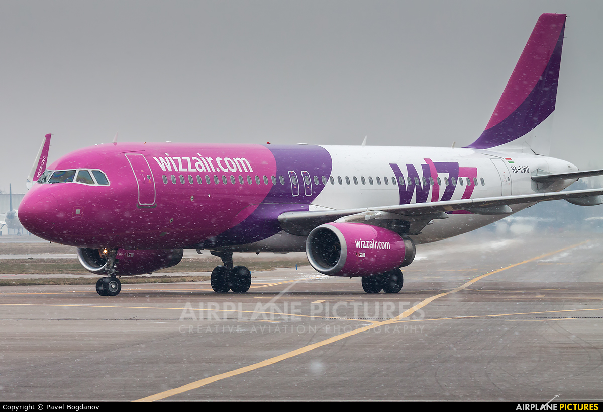 Wizz Air HA-LWU aircraft at Sofia