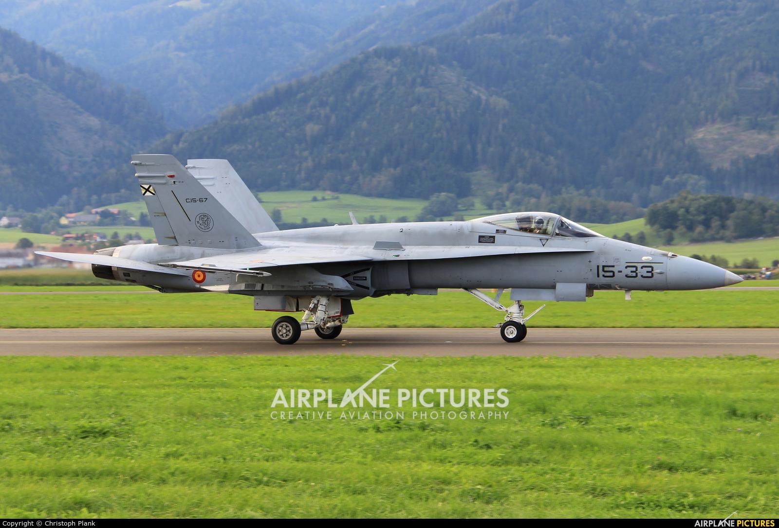 Spain - Air Force 15-33 aircraft at Zeltweg
