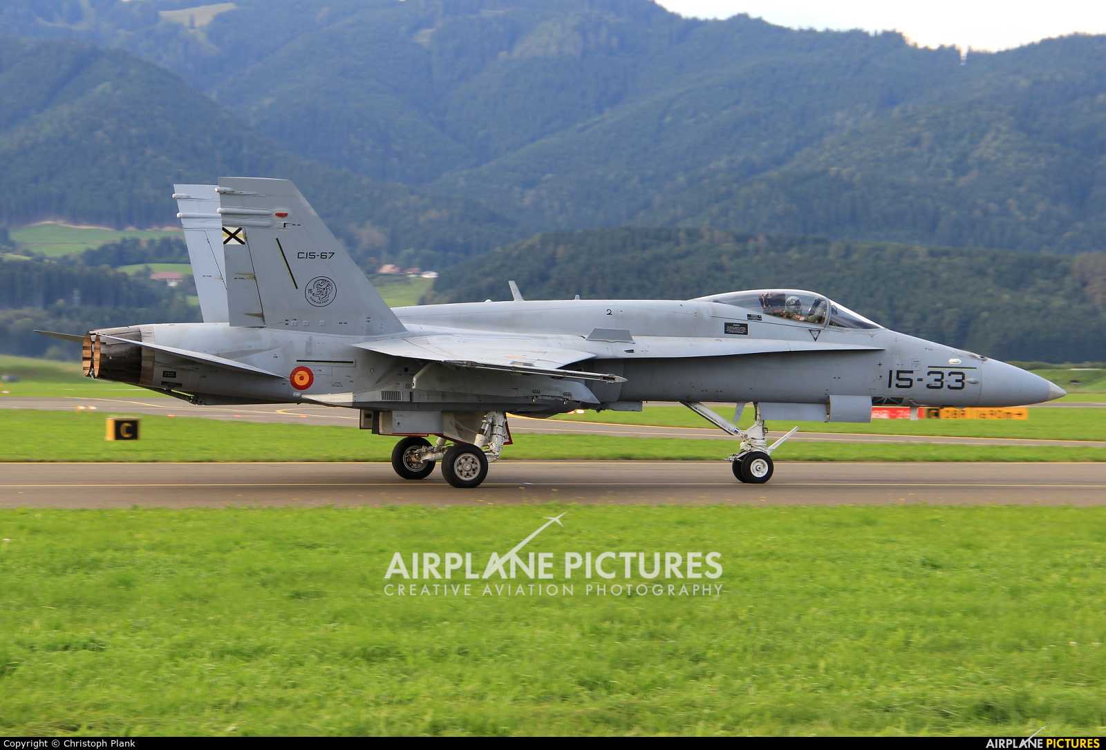 Spain - Air Force 15-33 aircraft at Zeltweg