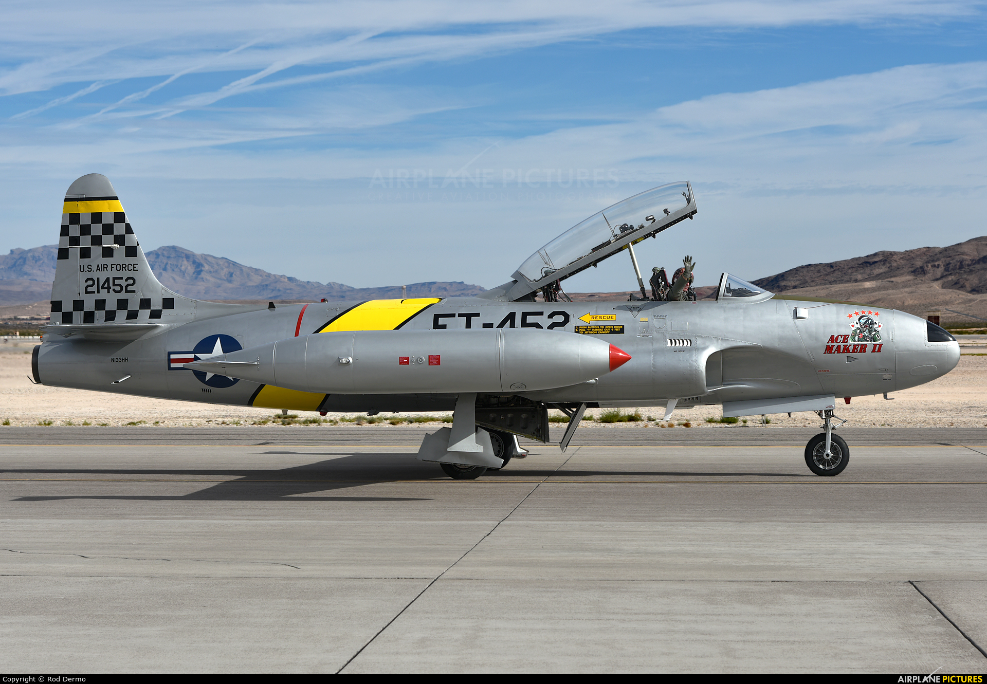 Private N133HH aircraft at Nellis AFB