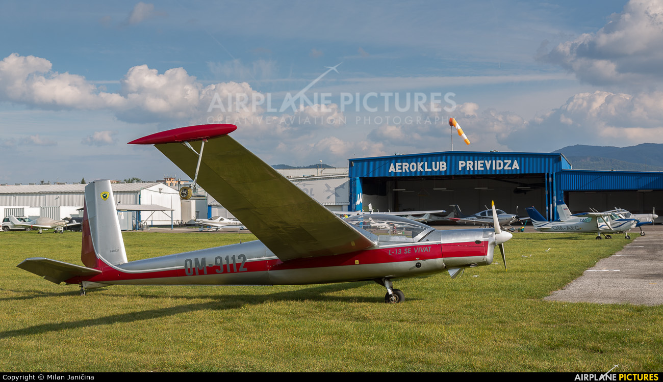 Aeroklub Žilina OM-9112 aircraft at Prievidza