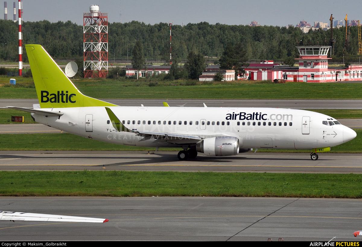 Air Baltic YL-BBI aircraft at St. Petersburg - Pulkovo
