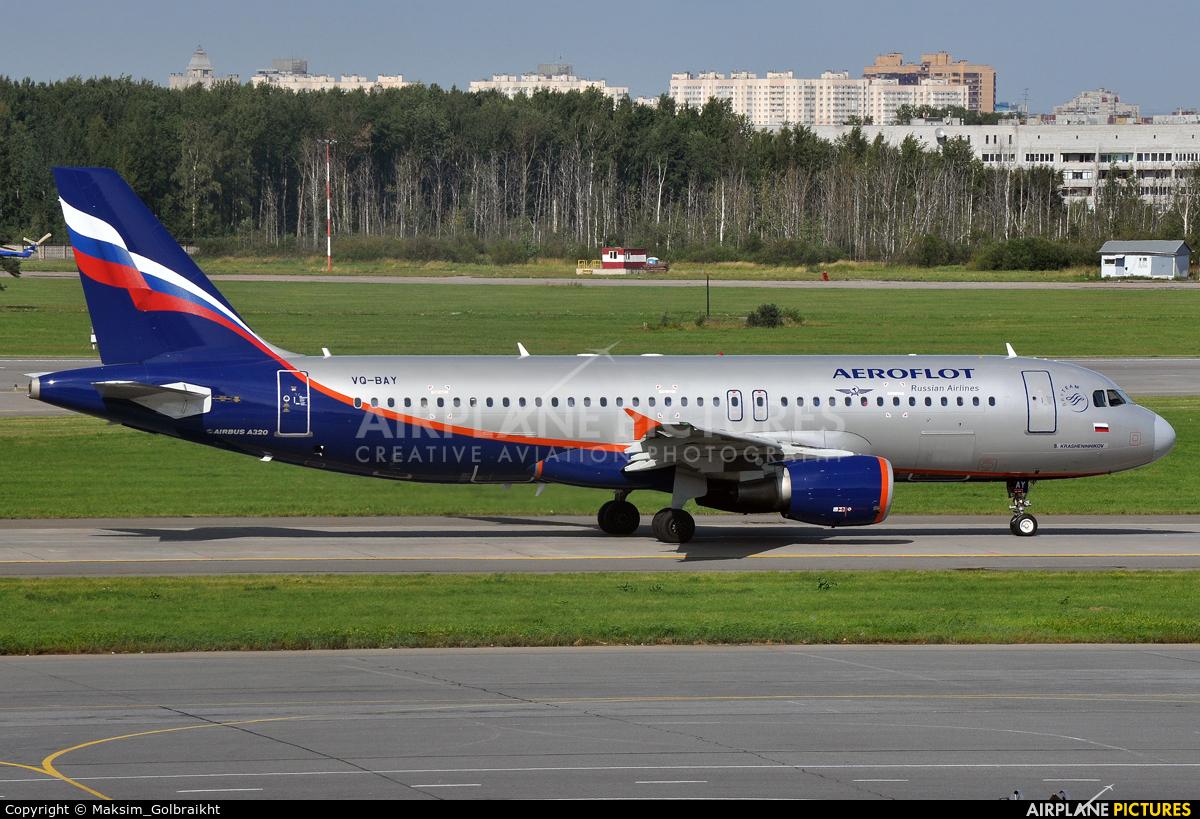 Aeroflot VQ-BAY aircraft at St. Petersburg - Pulkovo
