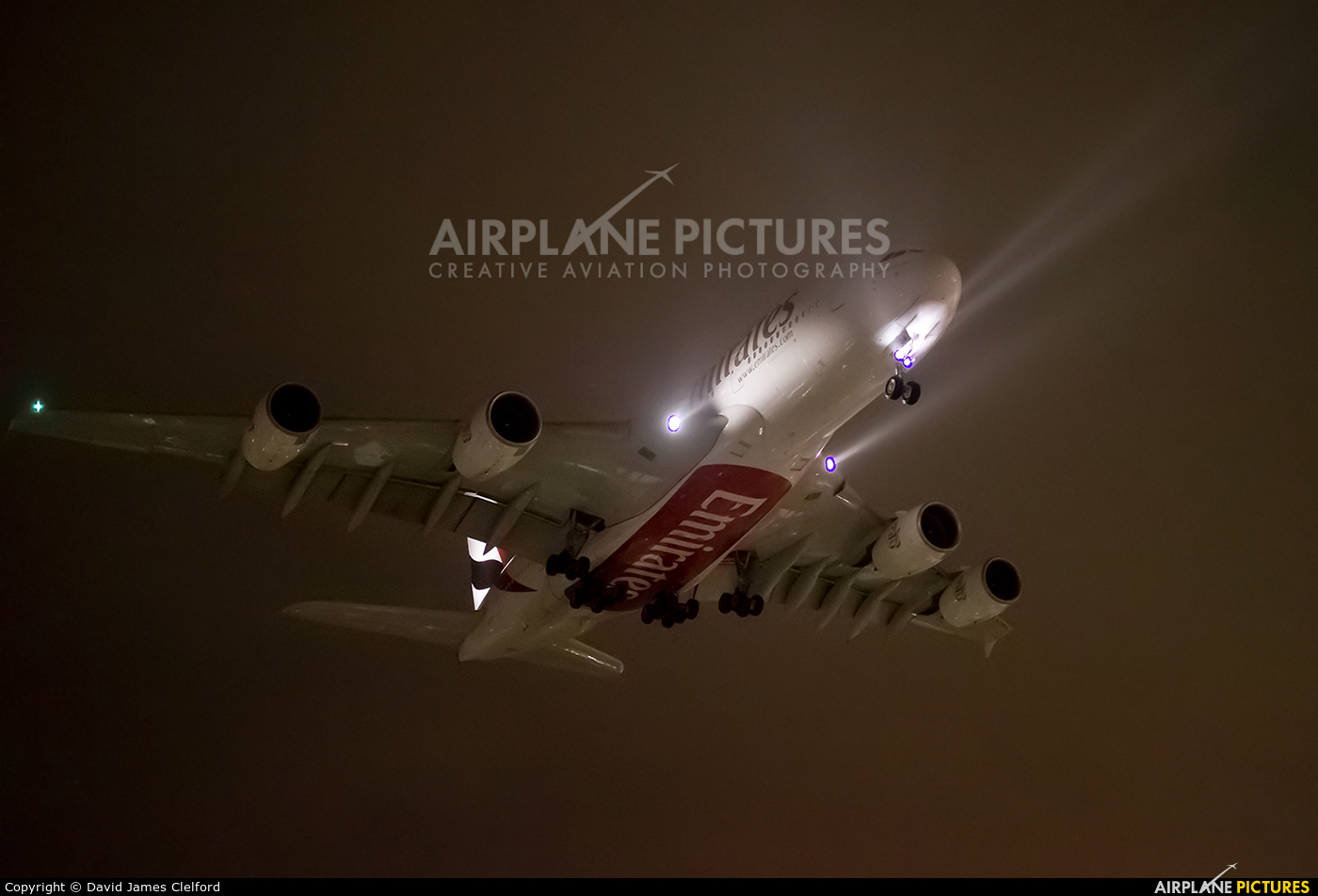 Emirates Airlines A6-EOA aircraft at London - Heathrow