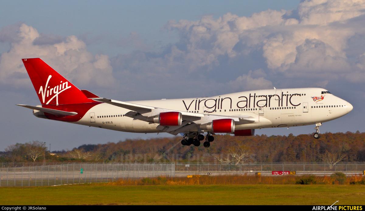 Virgin Atlantic G-VXLG aircraft at Orlando Intl