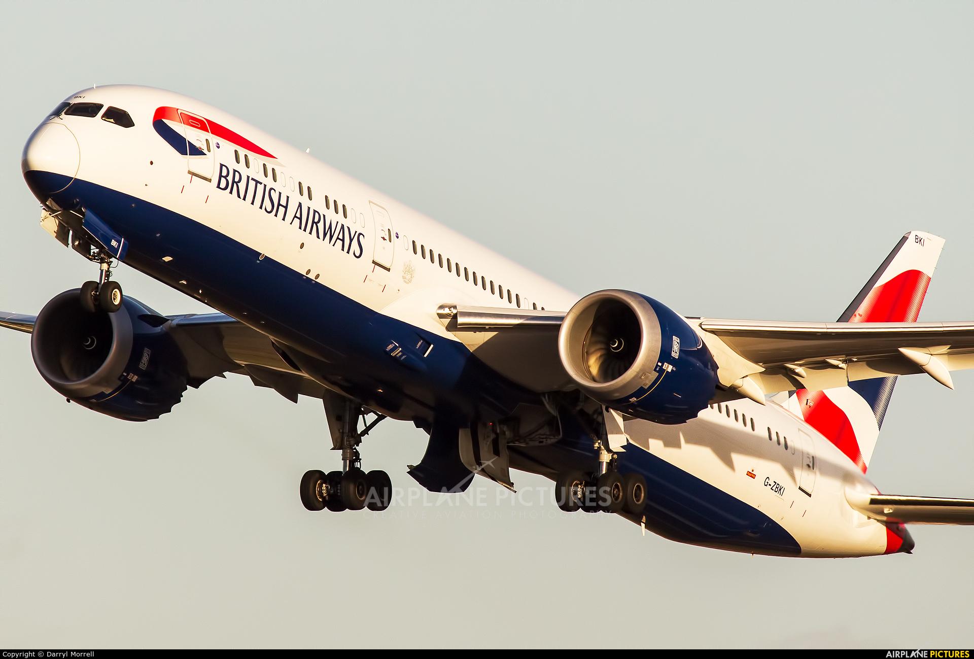 British Airways G-ZBKI aircraft at London - Heathrow
