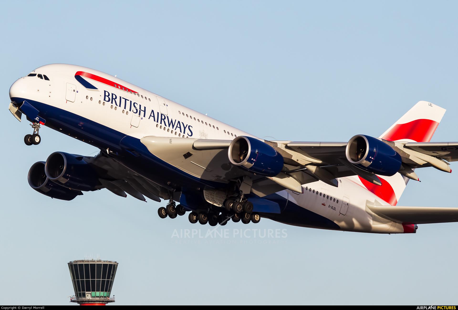 British Airways G-XLEL aircraft at London - Heathrow