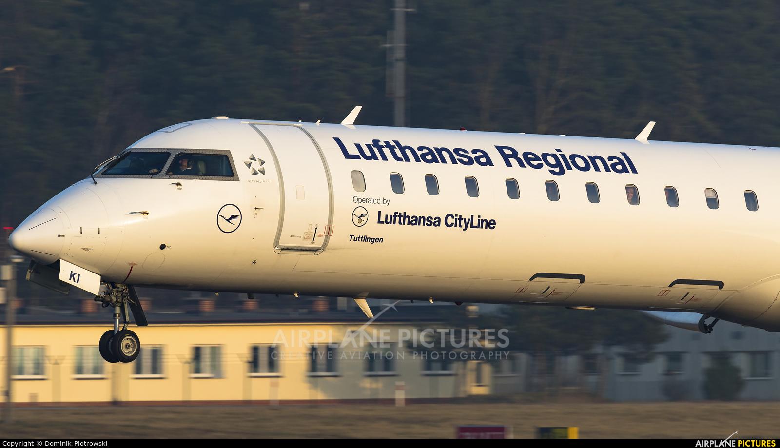 Lufthansa Regional - CityLine D-ACKI aircraft at Gdańsk - Lech Wałęsa
