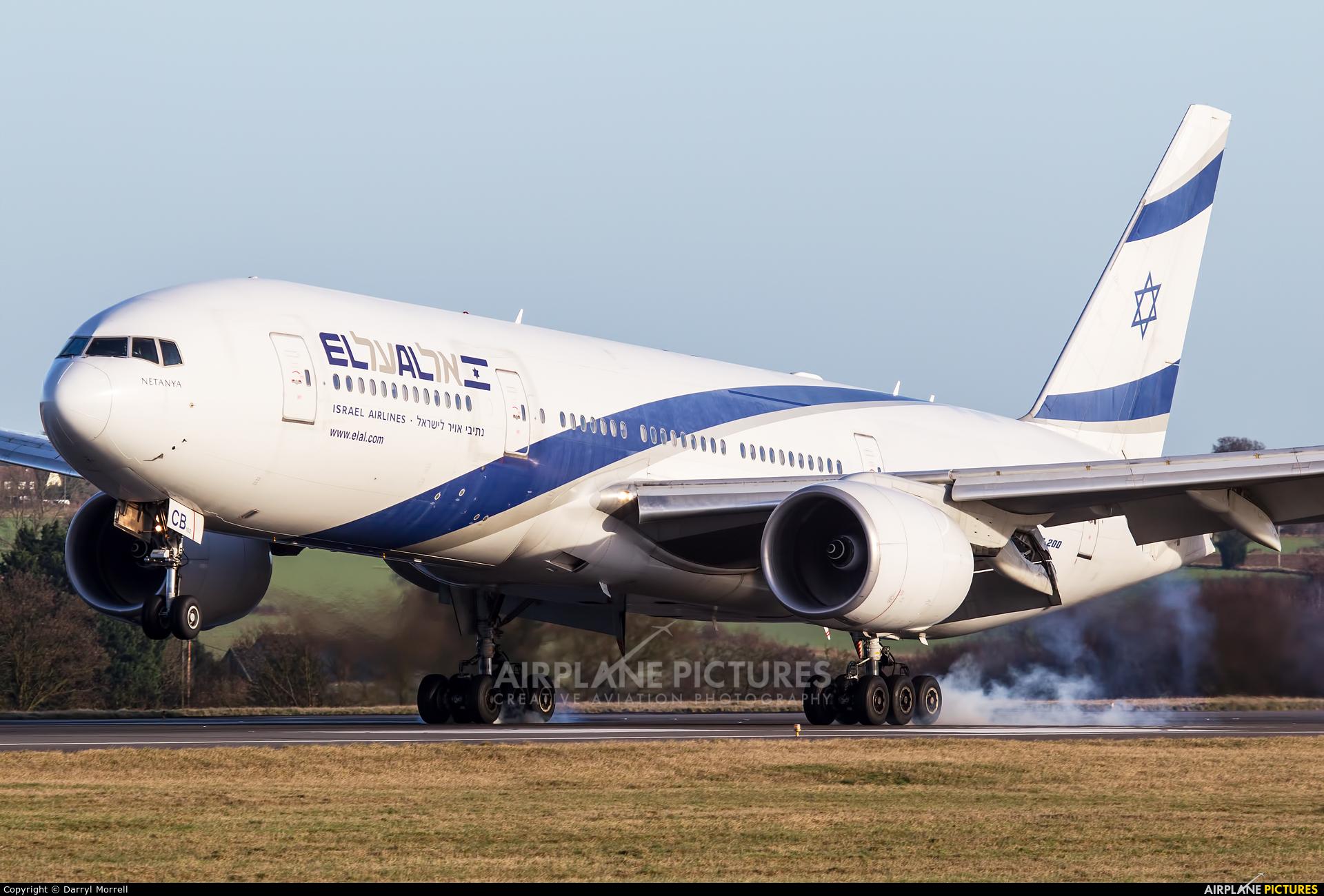 El Al Israel Airlines 4X-ECB aircraft at London - Luton