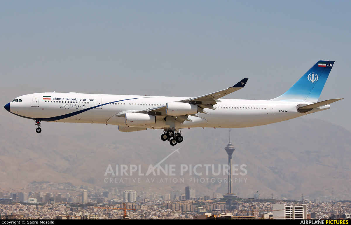 Iran - Government EP-AJA aircraft at Tehran - Mehrabad Intl