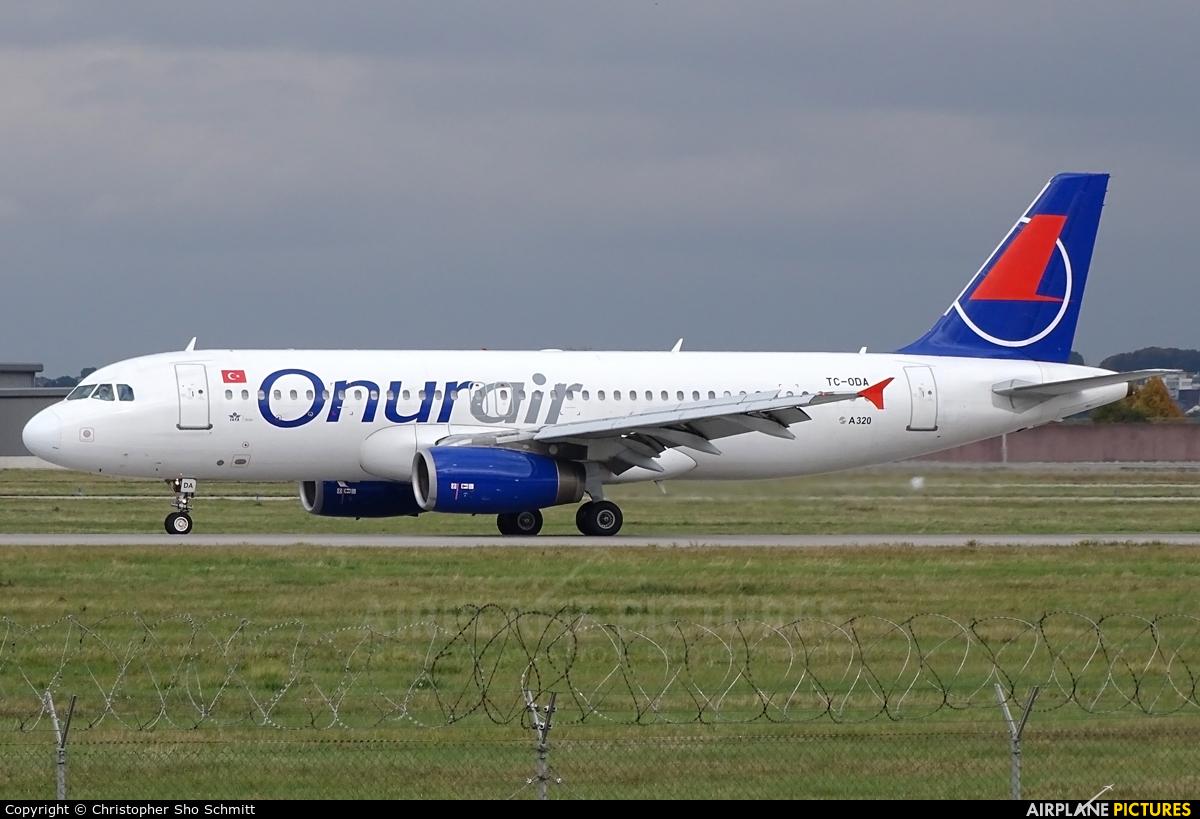 Onur Air TC-ODA aircraft at Stuttgart