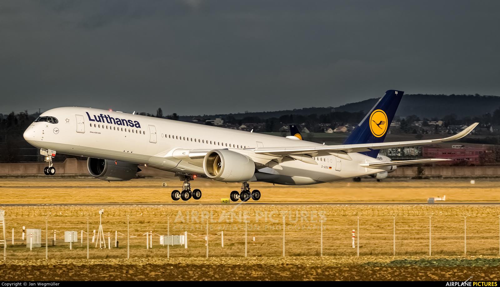 Lufthansa D-AIXA aircraft at Stuttgart
