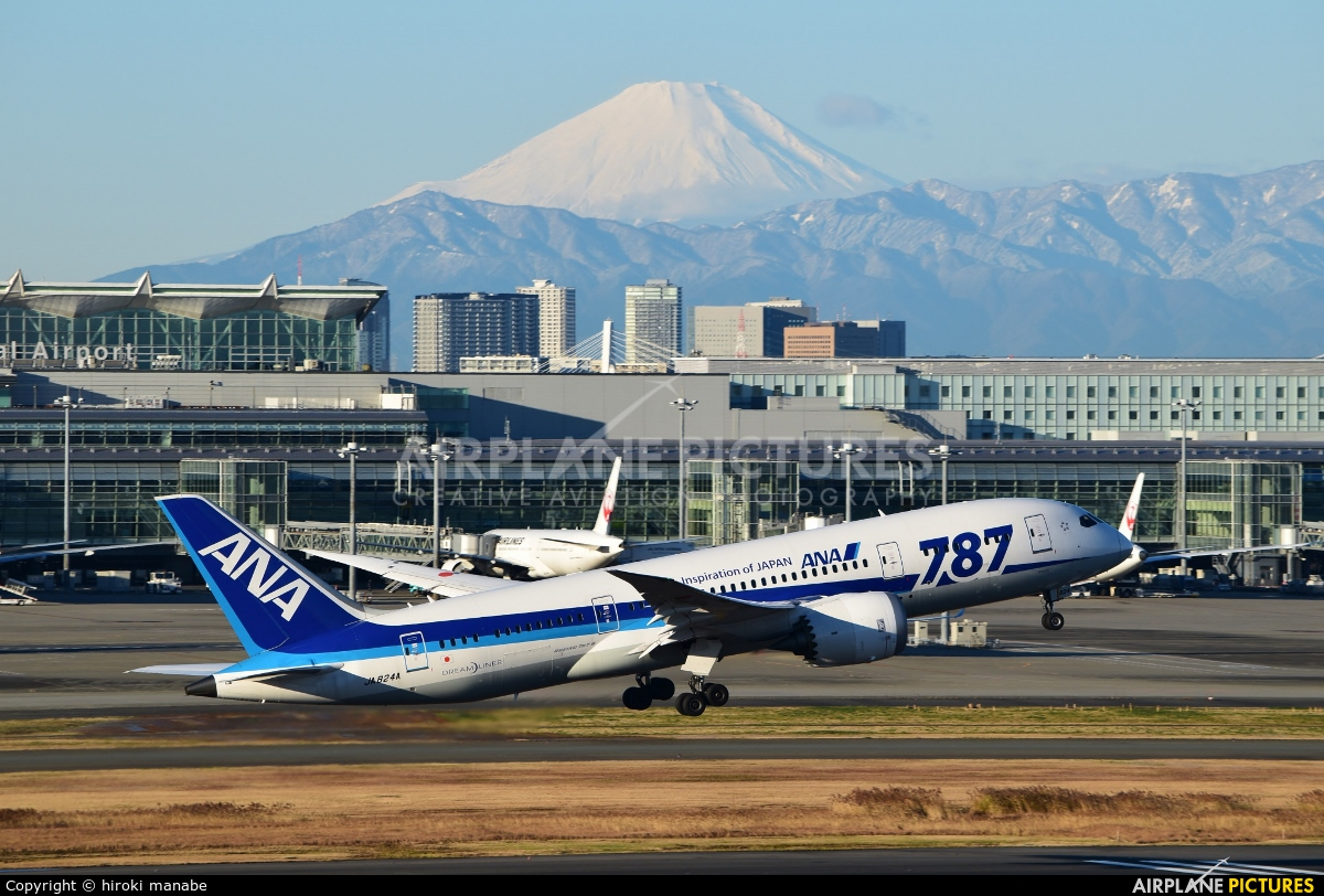ANA - All Nippon Airways JA824A aircraft at Tokyo - Haneda Intl