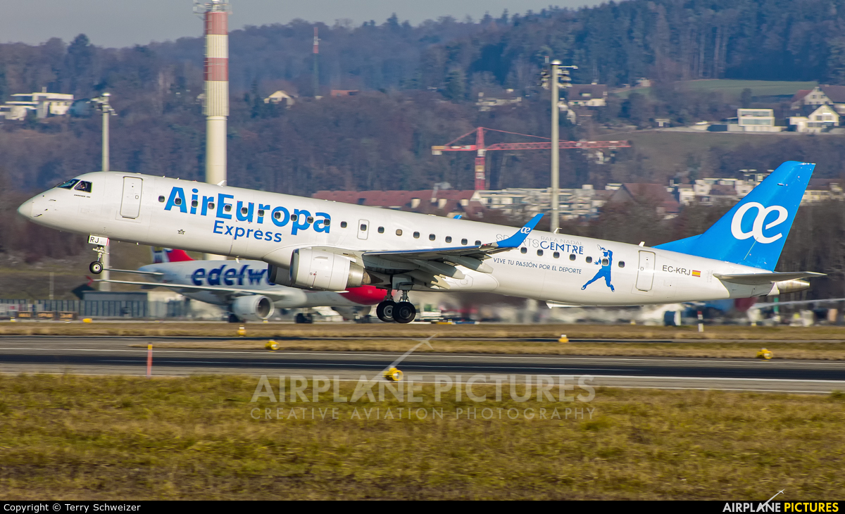 Air Europa Express EC-KRJ aircraft at Zurich