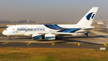 Rare Malaysian Airbus A380 at Mumbai title=