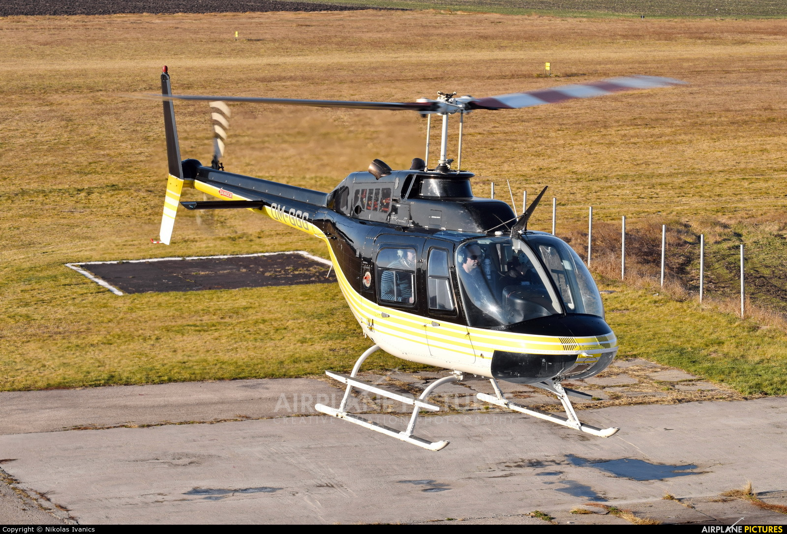 EHC Service OM-GGG aircraft at Nové Zámky