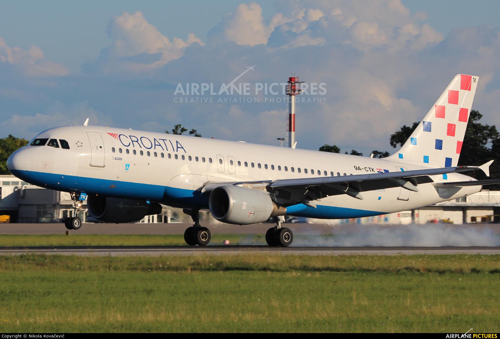 Croatia Airlines 9A-CTK aircraft at Zagreb