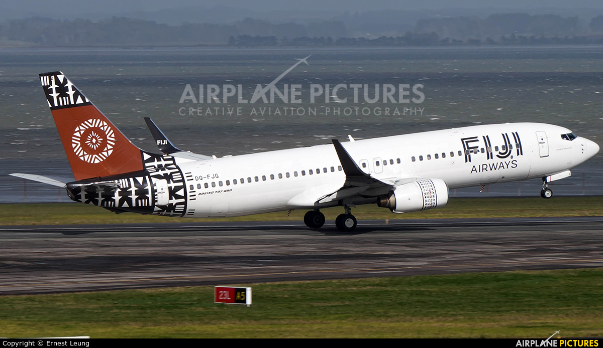 Fiji Airways DQ-FJG aircraft at Auckland Intl