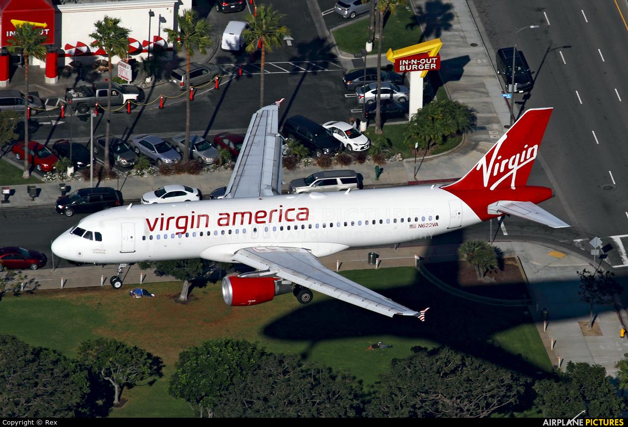 Virgin America N622VA aircraft at Los Angeles Intl