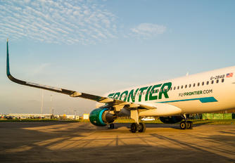 G-ZBAB - Frontier Airlines Airbus A320