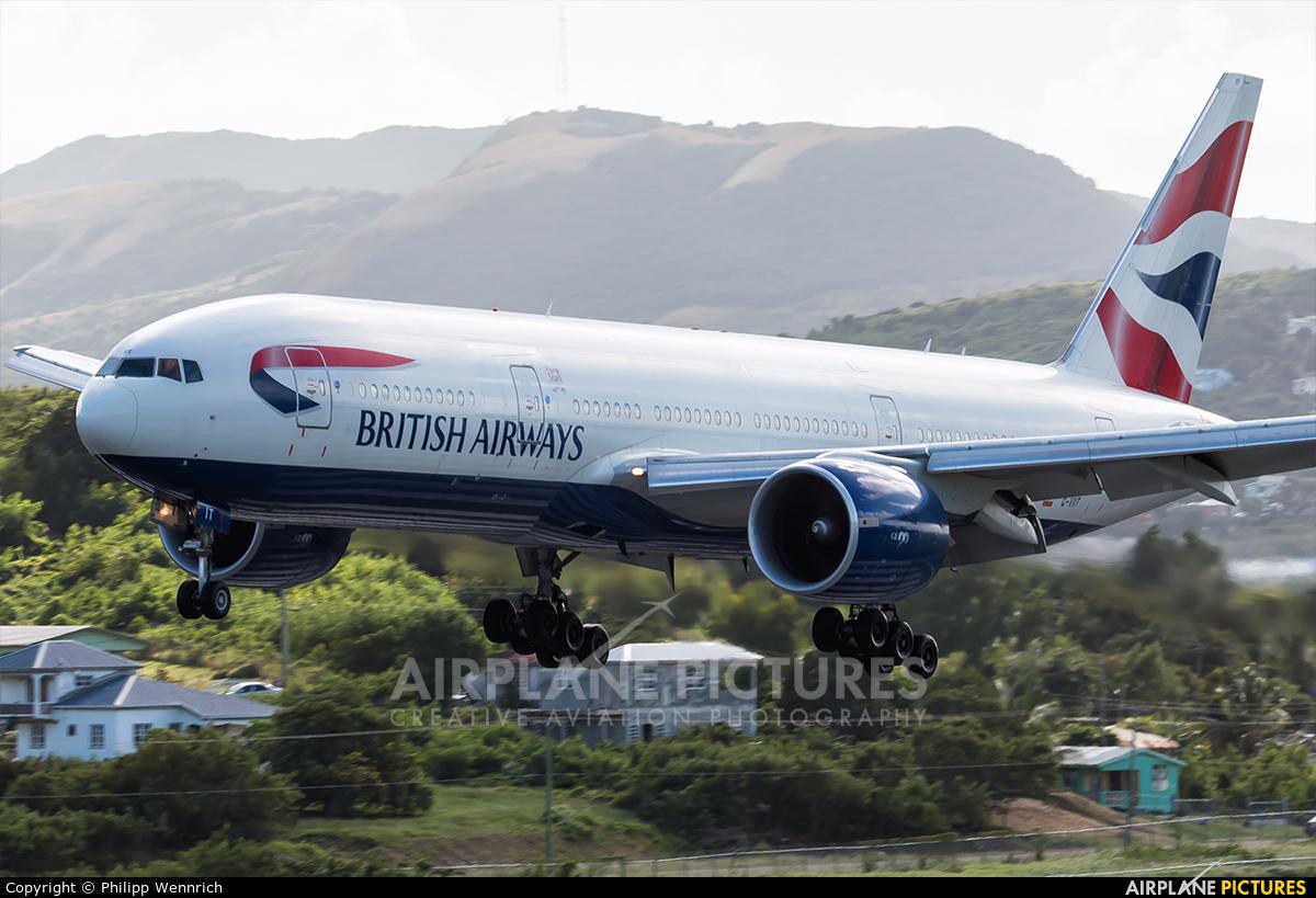 British Airways G-VIIT aircraft at V.C. Bird
