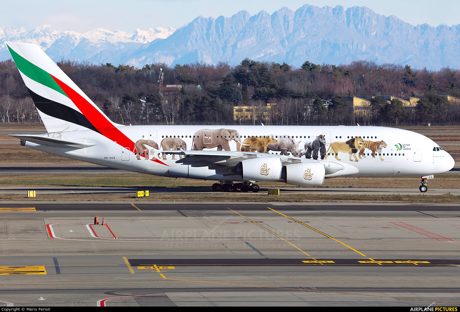 Emirates Airlines A6-EEQ aircraft at Milan - Malpensa