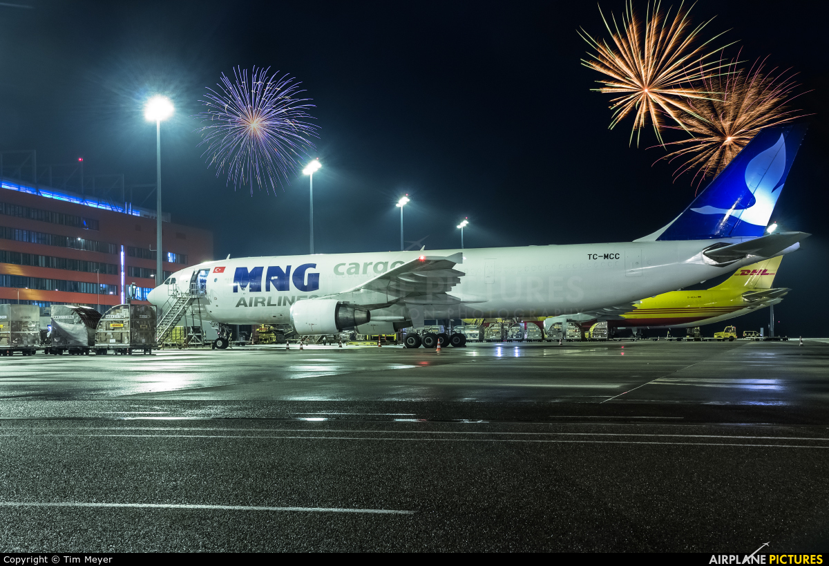 MNG Airlines TC-MCC aircraft at Leipzig - Halle