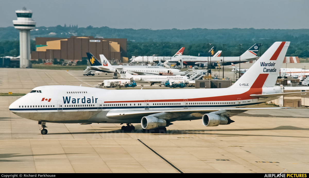 Wardair C-FDJC aircraft at London - Gatwick