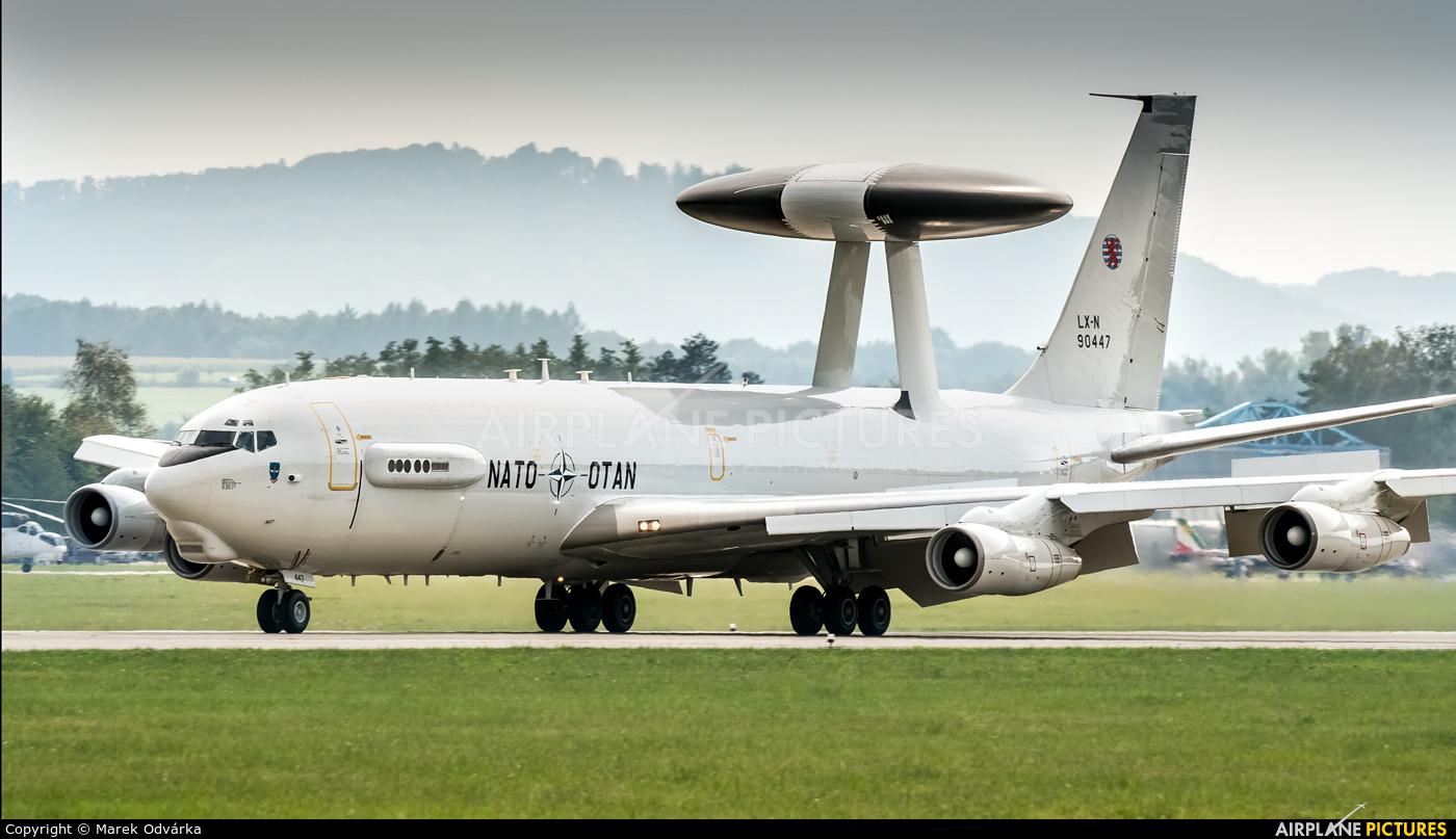 NATO LX-N90447 aircraft at Ostrava Mošnov