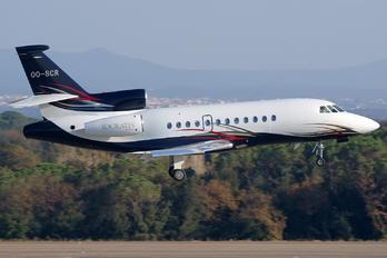 OO-SCR - Abelag Aviation Dassault Falcon 900 series