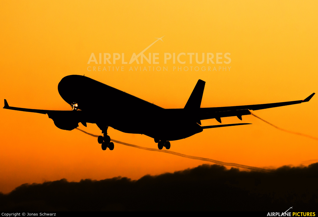 Qatar Airways A7-AEG aircraft at Frankfurt