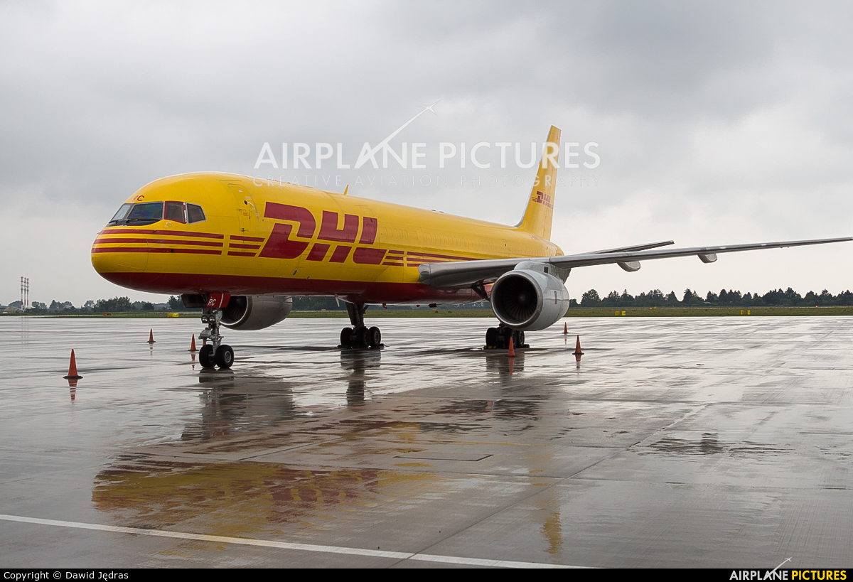 DHL Cargo G-BMRC aircraft at Warsaw - Frederic Chopin