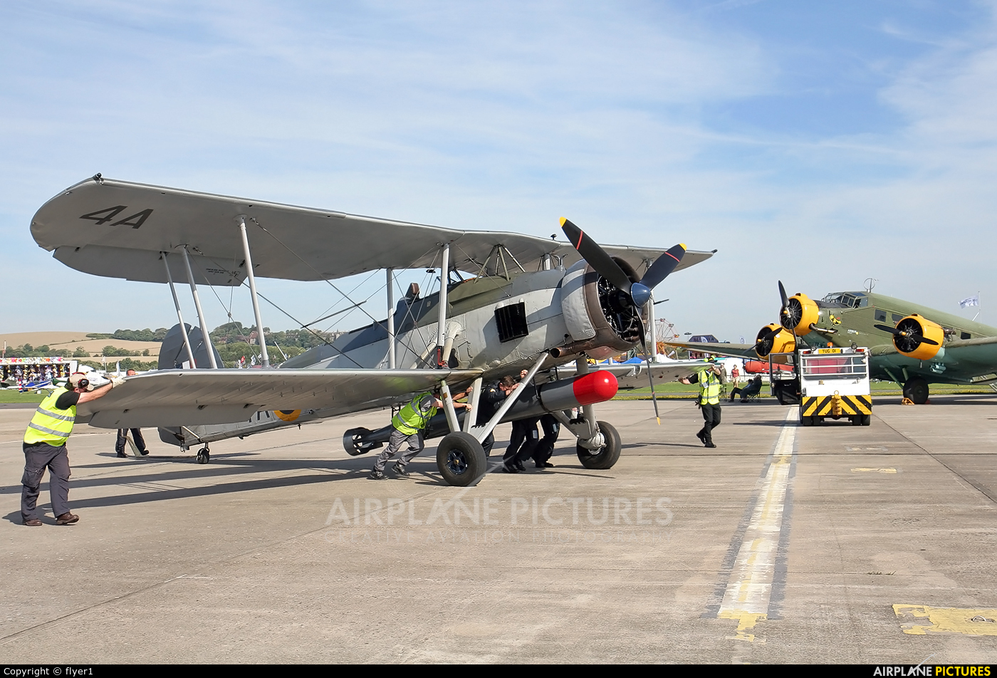 "Royal Navy ""Historic Flight"" W5856 aircraft at Brighton - Shoreham"