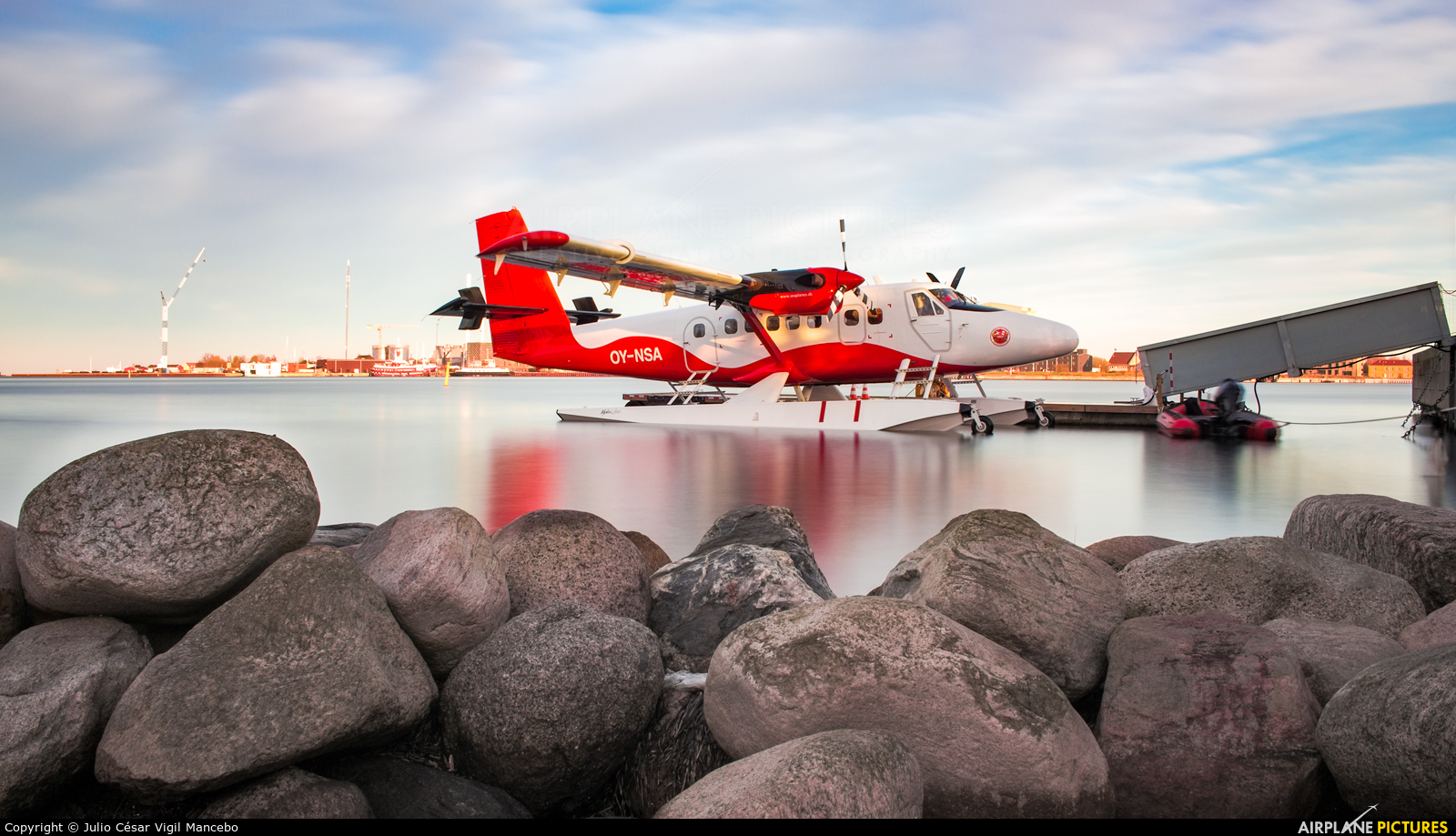Nordic Seaplanes OY-NSA aircraft at Copenhagen harbour sea airport