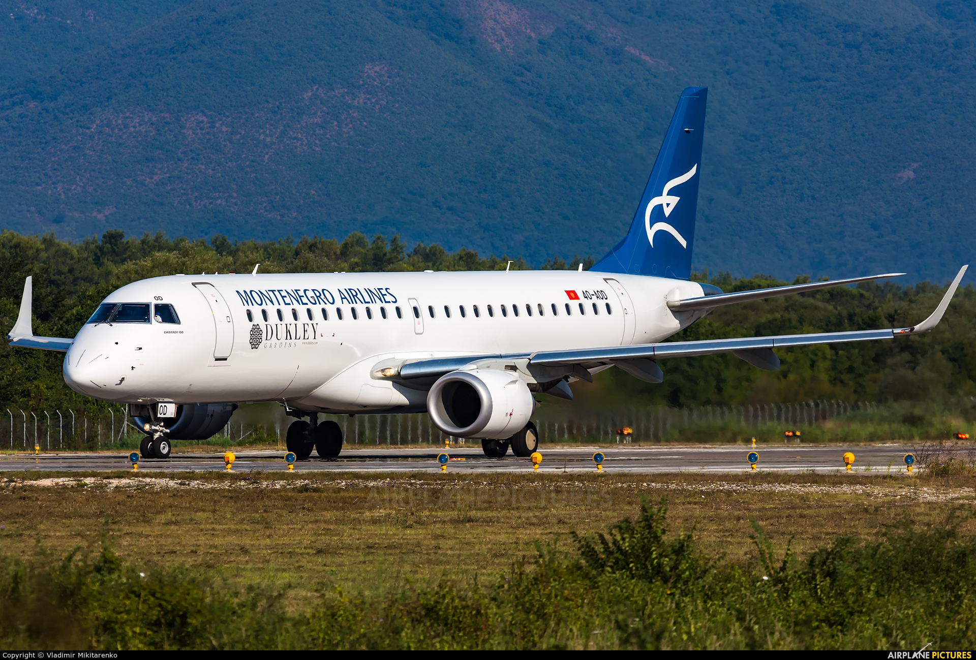 Montenegro Airlines 4O-AOD aircraft at Tivat