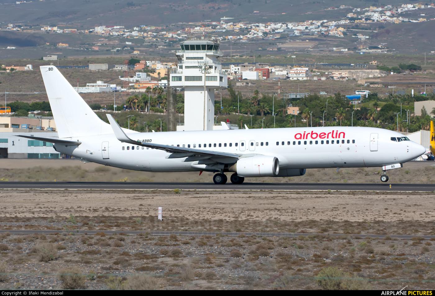 Air Berlin D-ABBD aircraft at Tenerife Sur - Reina Sofia