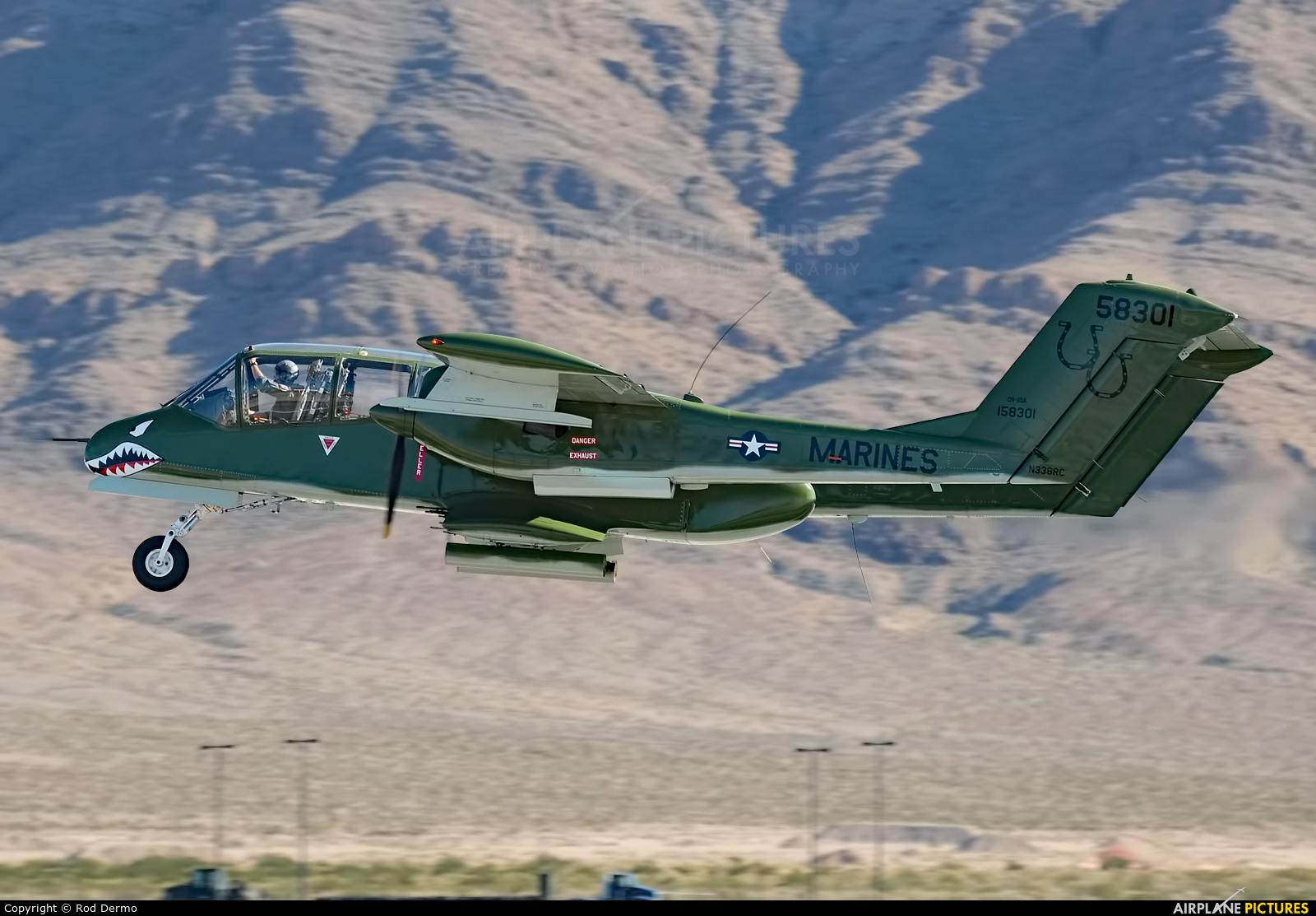 Private N338RC aircraft at Nellis AFB