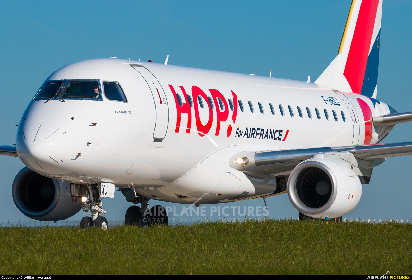 Air France - Hop! F-HBXJ aircraft at Paris - Charles de Gaulle