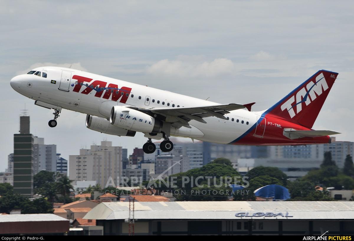 TAM PT-TML aircraft at São Paulo - Congonhas