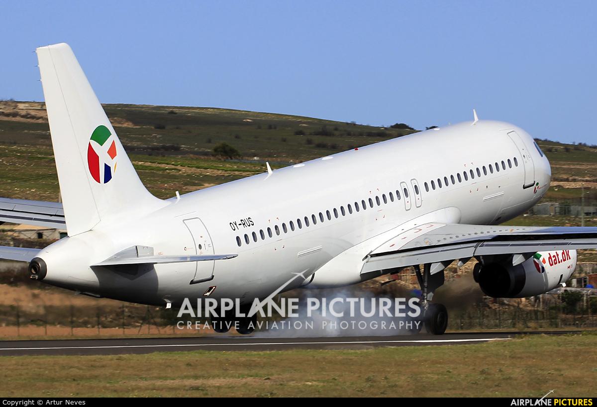 Danish Air Transport OY-RUS aircraft at Porto Santo